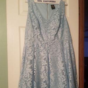 Ice blue lace dress